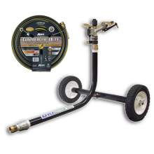 "Wheeled Sprinkler Cart & 3/4"" x 75 ft. Hose Combination Kit"